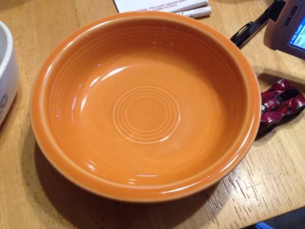 Newer Orange Fiestaware Bowl: 227 ppm Cadmium (but Lead-free)