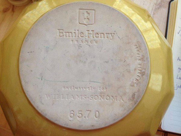 Emile Henry Mixing Bowl, c. 2014: 1,647 ppm Lead