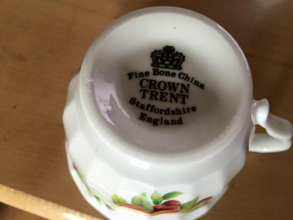 Vintage Crown Trent Staffordshire Made In England Teacup: 47,200 ppm Lead.