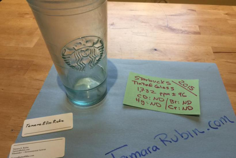 Recycled Clear Glass Starbucks Coffee Tumbler