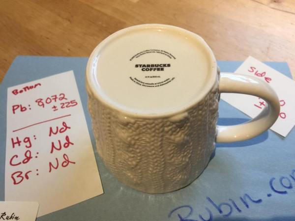 2008 White Ceramic Starbucks Coffee Holiday Mug