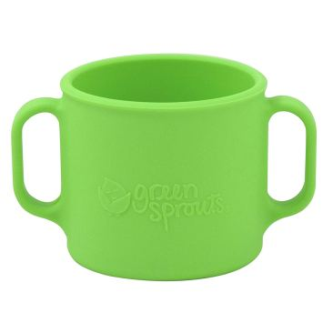 Soft green silicone toddler cup by Green Sprouts Brand: Positive for 20 +/- 6 ppm Cadmium [a known carcinogen].