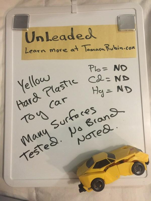 Yellow Plastic Toy Car Transformer
