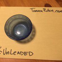 Blue Glass Pyrex Custard Cup Ramekin