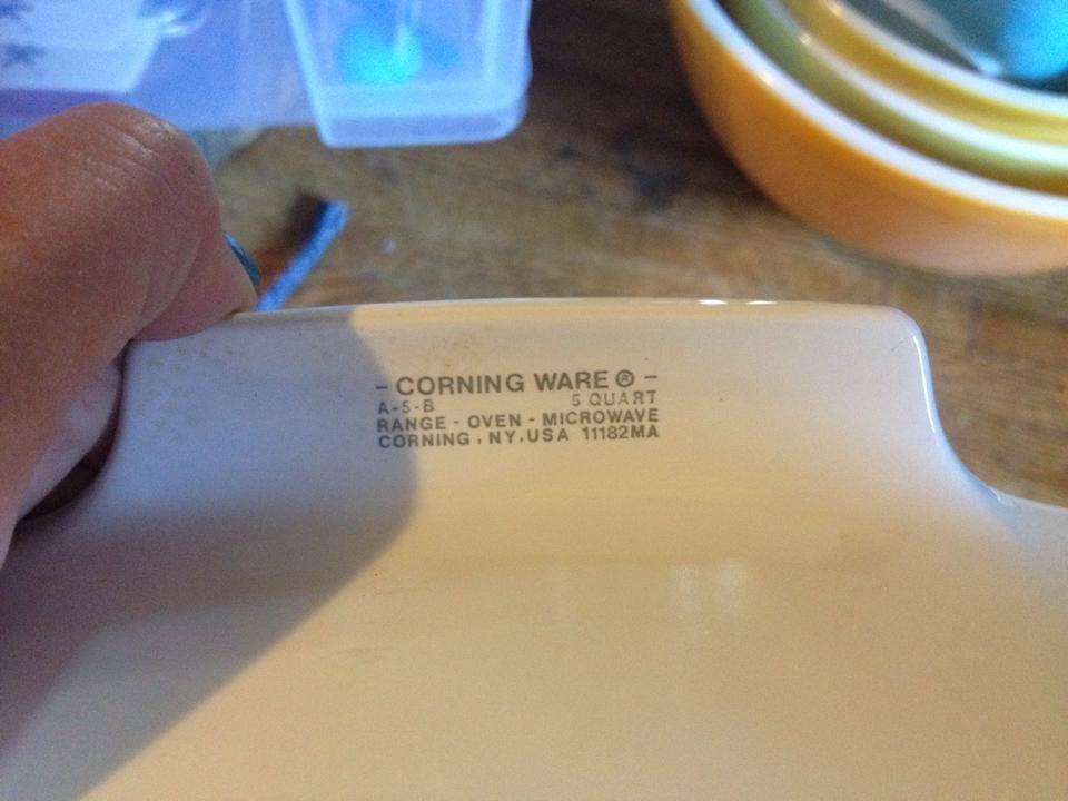 Vintage (1972-1988) Corning Ware Spice-o-Life Casserole: 21,800 ppm Lead