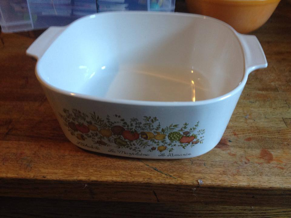 Vintage (1972-1988) Corning Ware Spice-o-Life Casserole: 21,800 ppm Lead