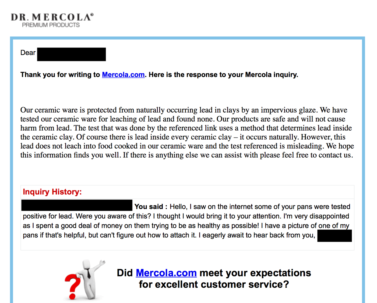 Response From Dr Mercola To His Customers Re My Work
