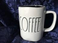 Rae Dunn Coffee Mug By Magenta Black Glazed Ceramic Interior