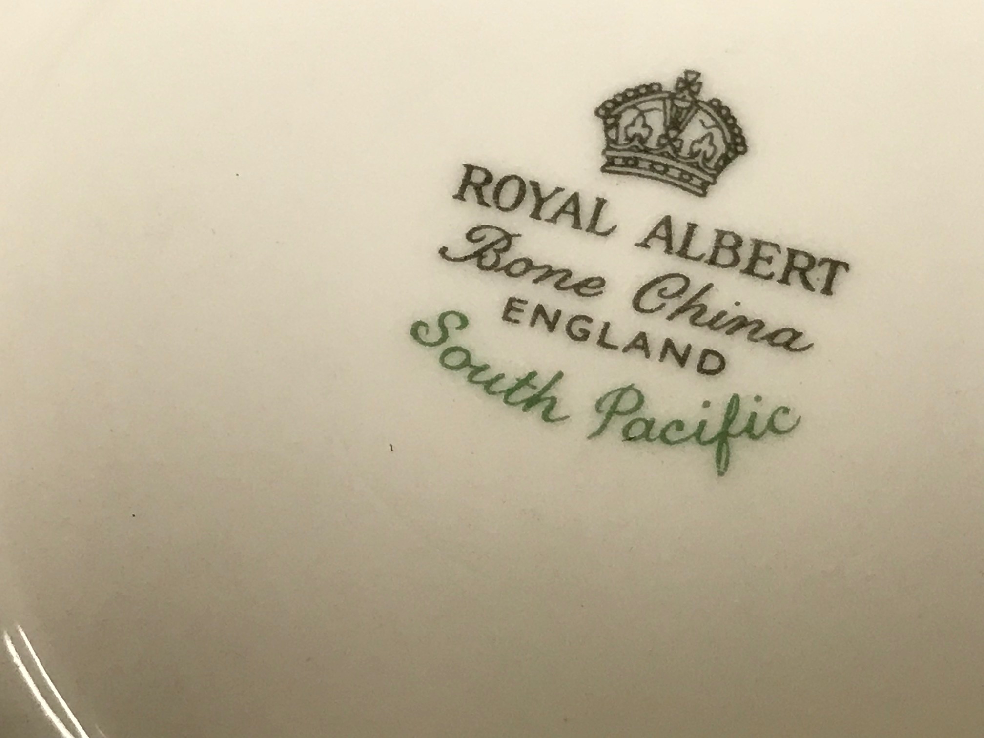 Royal Albert South Pacific Bone China: 53,300 ppm Lead + Cadmium