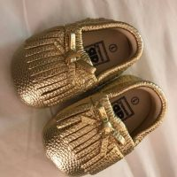 Gold Baby Shoes 2