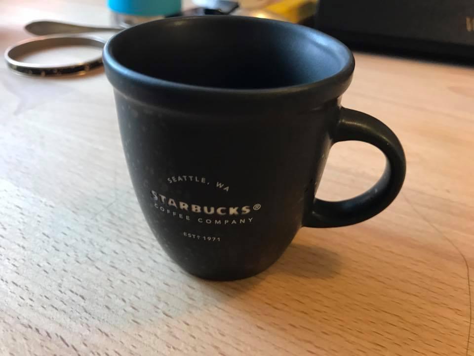 2016 3 oz Starbucks Coffee Company Black Ceramic Espresso Cup