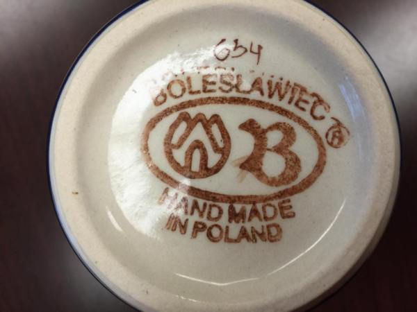 Made In Poland - Boleslawiec Mug: 91 ppm Lead, considered safe by all standards.