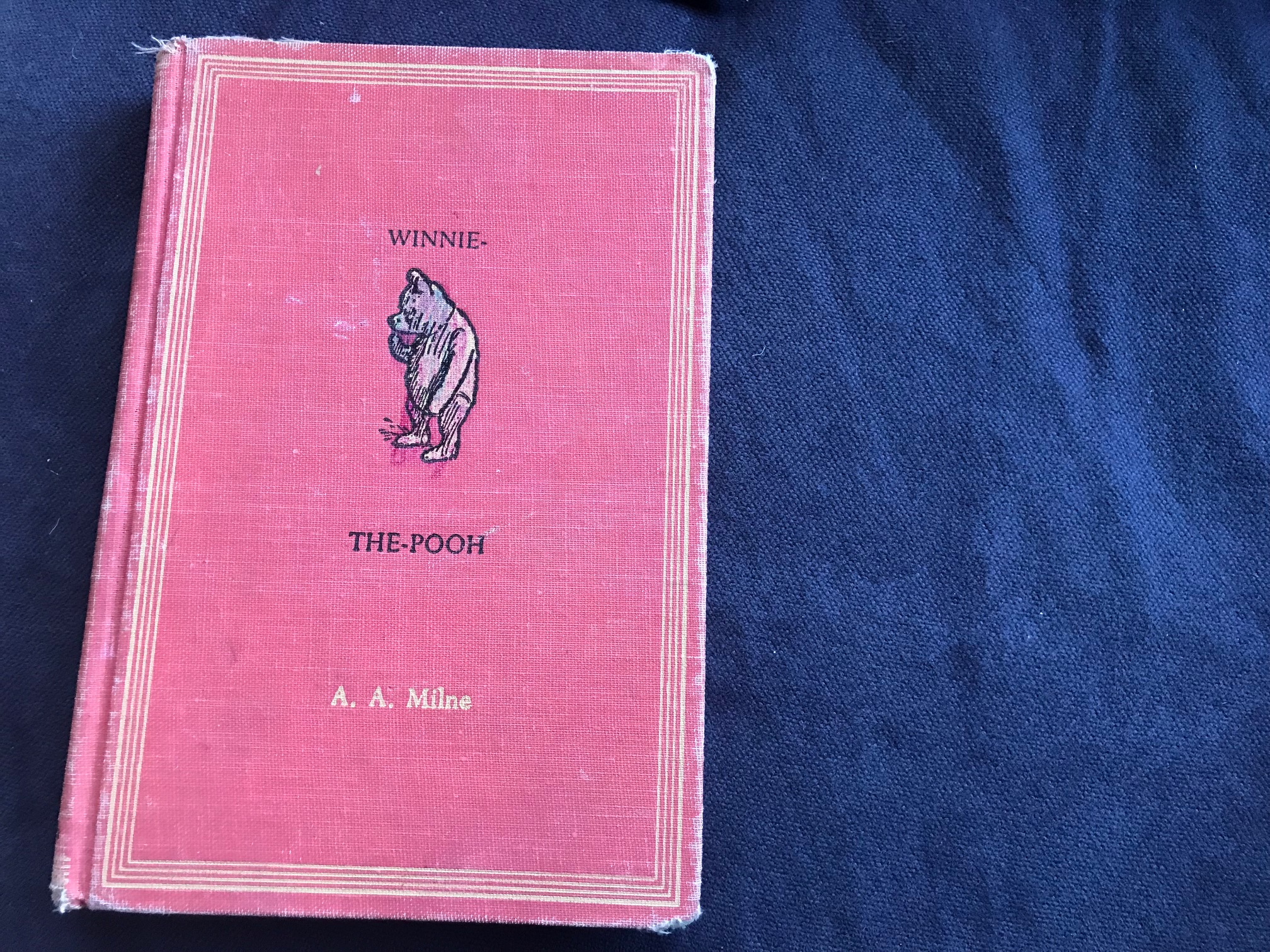 Vintage Winnie The Pooh Book, 1954 Cloth Cover