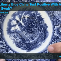 Can I test my Liberty Blue china with a LeadCheck Swab