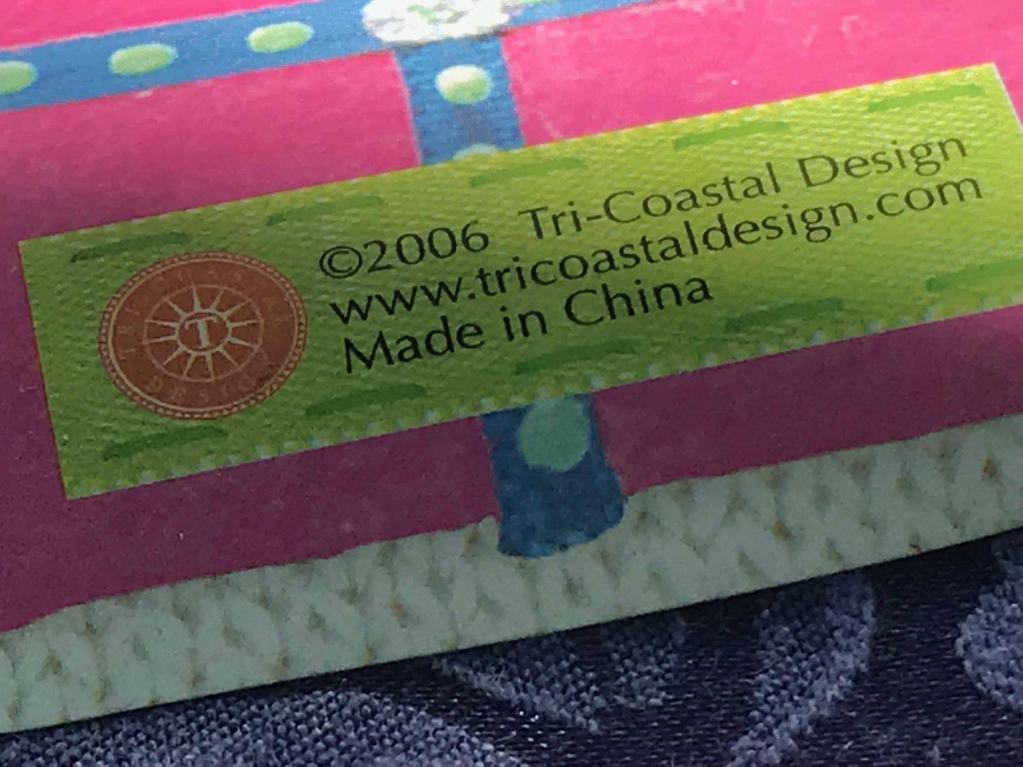 Glazed Ceramic Christmas Stocking Desk Decoration, by TriCoastalDesign.com
