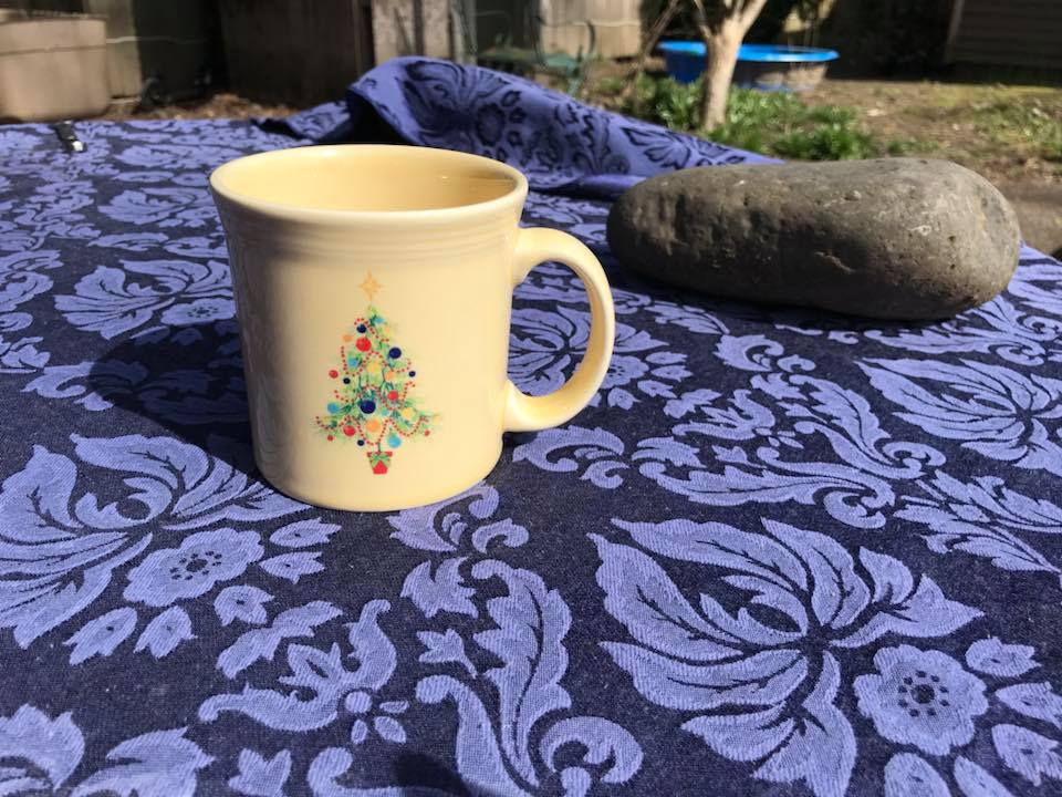 Homer Laughlin China Fiestaware Christmas Tree Mug, Made In USA