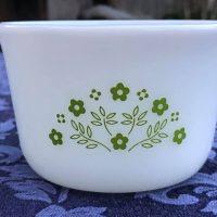 Honeydew Summer Impressions Custard Cup Vintage Pyrex 1