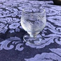 Small Vintage Cut Crystal Goblet Shot Glass Tamara Rubin Lead Safe Mama 1