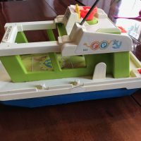 Vintage Fisher Price Motor Boat Toy Tamara Rubin Lead Safe Mama 1