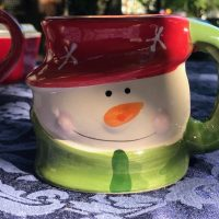 Vintage Royal Norfolk Ceramic Snowman Mug Christmas Lead Safe Mama Tamara Rubin 1