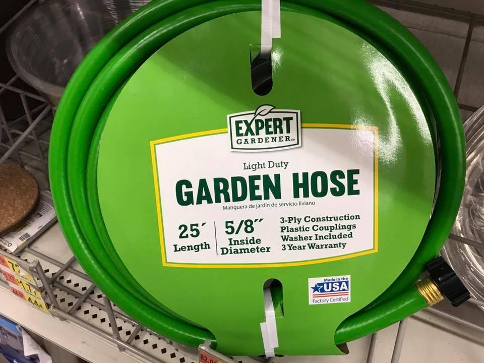 Expert Gardener Light Duty Garden Hose New On Shelf (2017) In Walmart, Made In USA