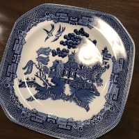 Johnson Bros Made In England Wedgwood Group Willow Earthenware Octogon Plate Lead Safe Mama Tamar a Rubin 1
