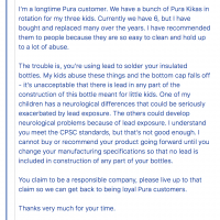July 1, 2018 Letter to Pura Kiki from Erika