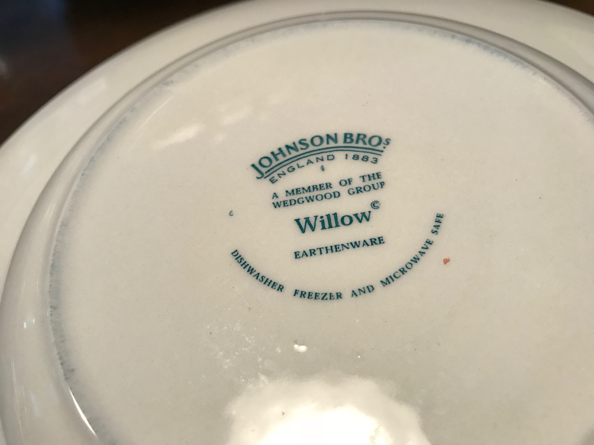 Johnson Brothers Wedgwood Group Willow Earthenware Pasta Bowl Tamara Rubin Lead Safe Mama