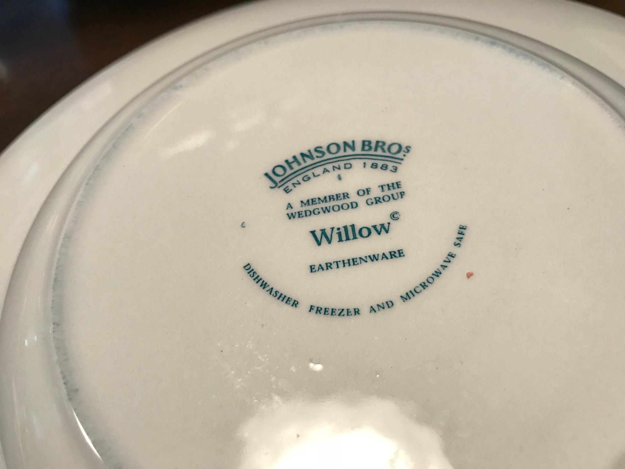 Johnson Brothers Wedgwood Group Willow Earthenware Pasta Bowl Tamara Rubin Lead Safe Mama