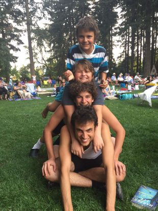 My four sons, Summer 2017.