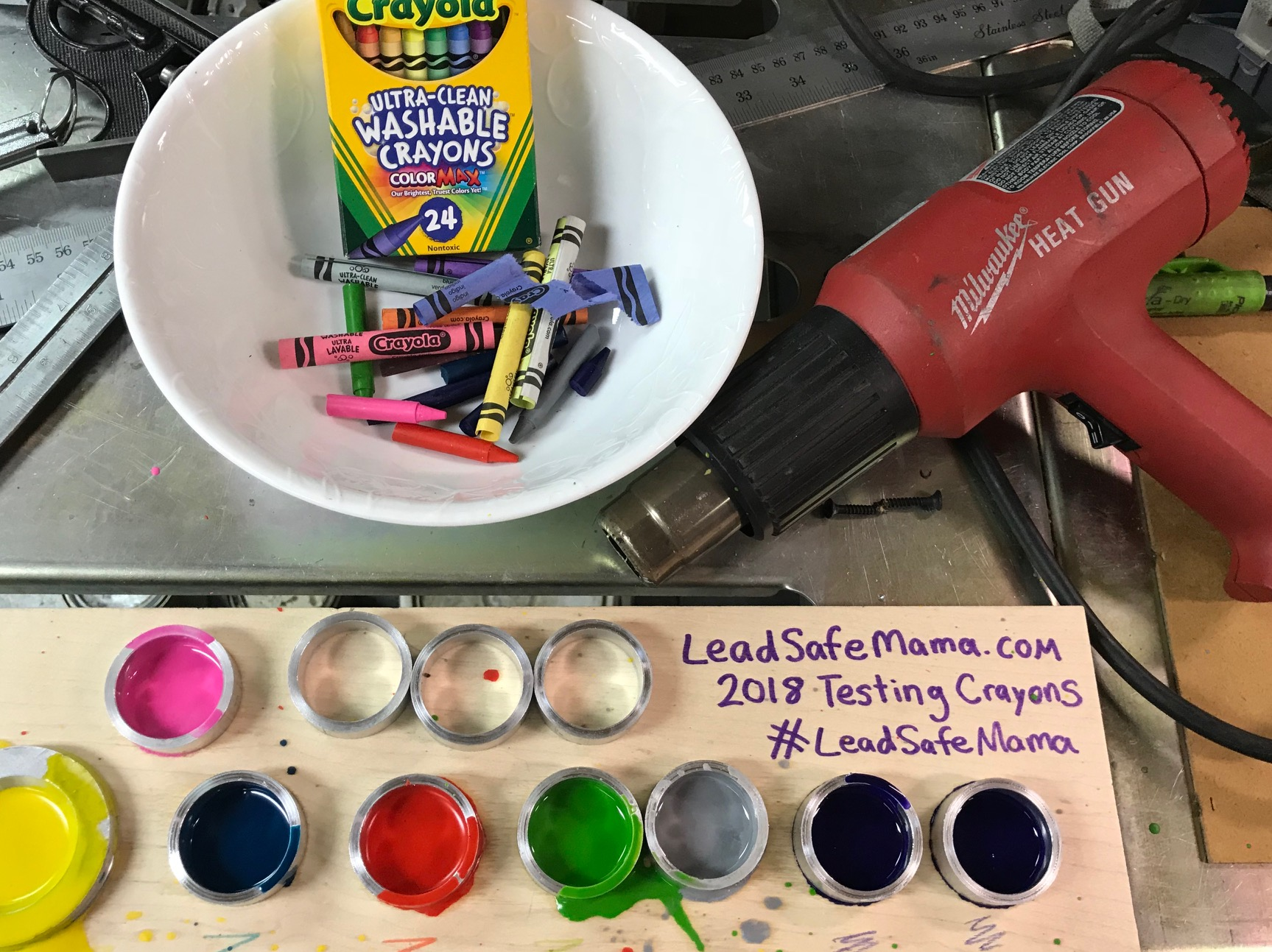 What did you find when you tested Crayola crayons for lead (Pb)?, 2018
