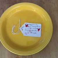 Vintage Yellow Ceramic Harlequin by Homer Laughlin Co. Fiesta Plate, c. 1938-1960 Tamara Rubin Lead Safe Mama 1