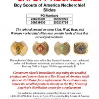 Boyscout Neckerchief Recall