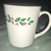 Holly Berry Christmas Vintage Corning Mug Tamara Rubin Lead Safe Mama 2