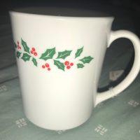 Holly Berry Christmas Vintage Corning Mug Tamara Rubin Lead Safe Mama 2