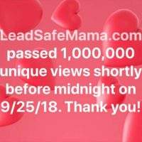 Lead Safe Mama One Million Views 2018