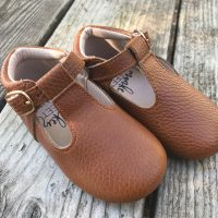 Monkey Feet Brown Leather Toddler Shoes Tamara Rubin Lead Safe Mama 1