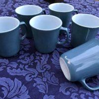 Blue Vintage Pyrex Mugs Tamara Rubin Lead Safe Mama