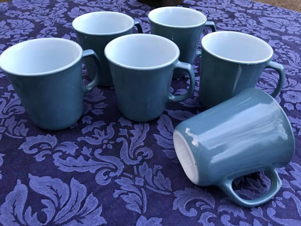 Vintage Blue Pyrex Glass Mugs: 71,800 ppm Lead
