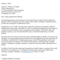 EPA Letter Ruth Etzel