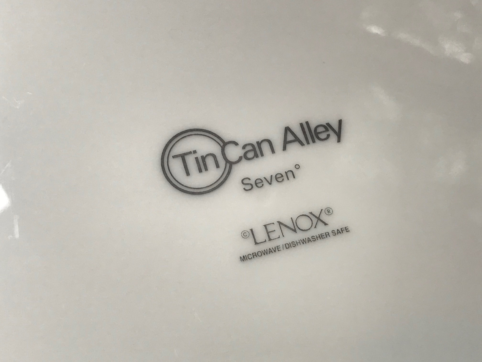 "XRF Test Results For Lenox Tin Can Alley ""Seven"" Dinner Plate"