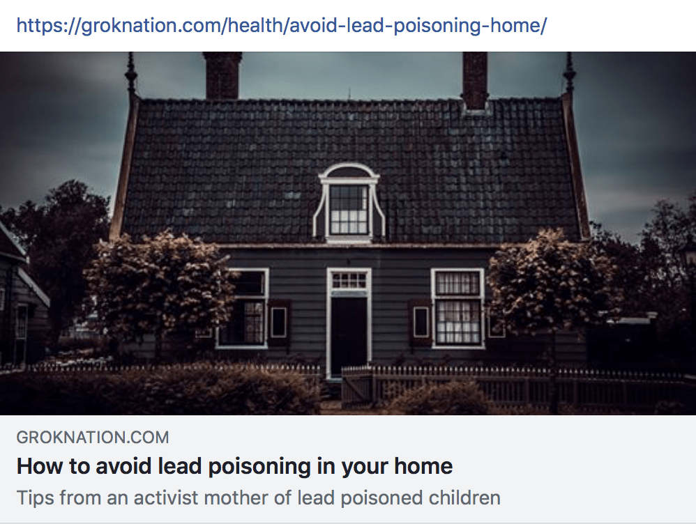 Check out Mayim Bailik's GrokNation.com for an article I wrote about childhood lead poisoning.
