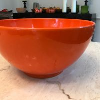 Orange Waechtersbach Germany Bowl from Williams Sonoma Lead Safe Mama Tamara Rubin 1