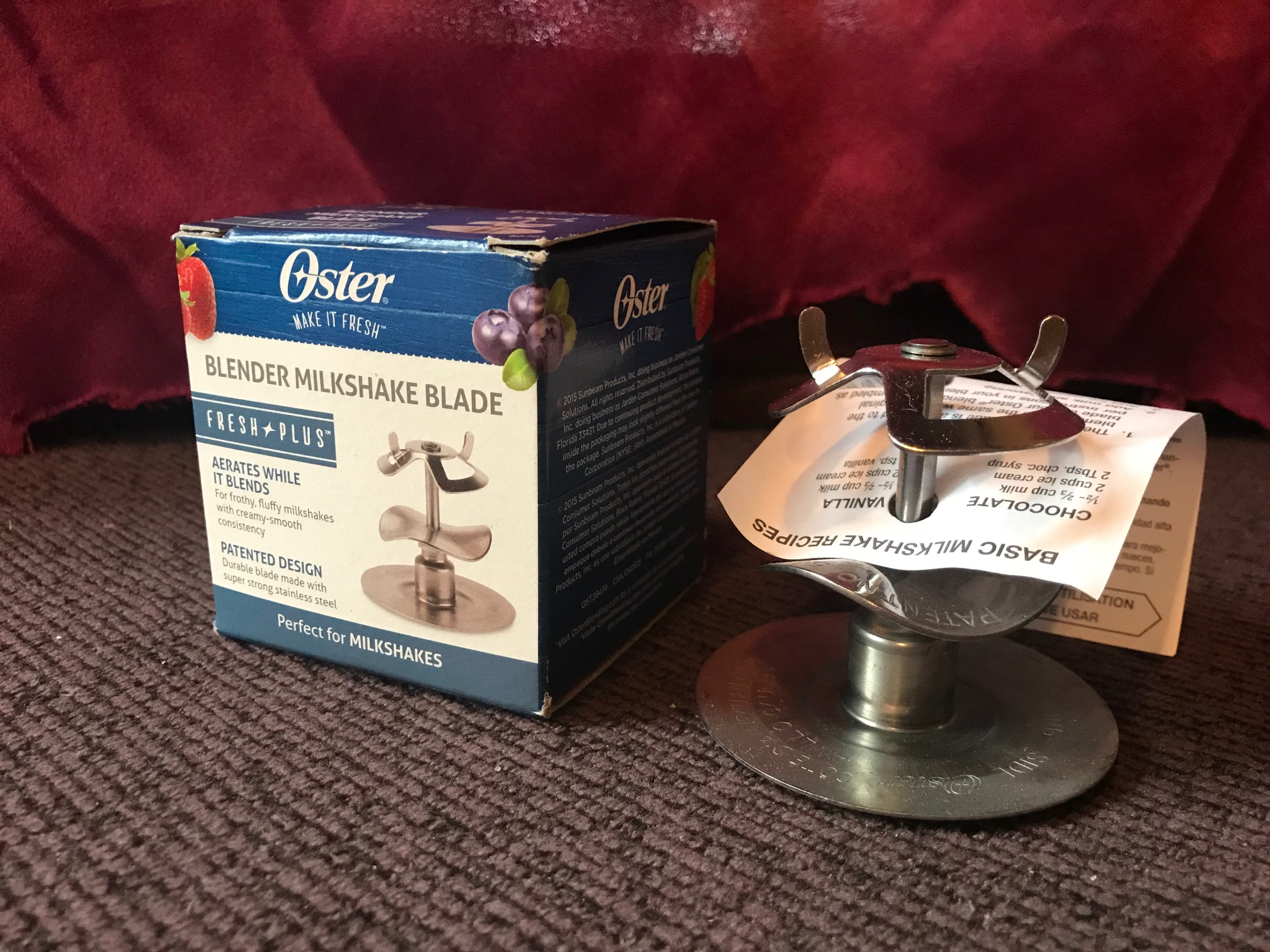 XRF Test Results For Oster Blender Milkshake Blade