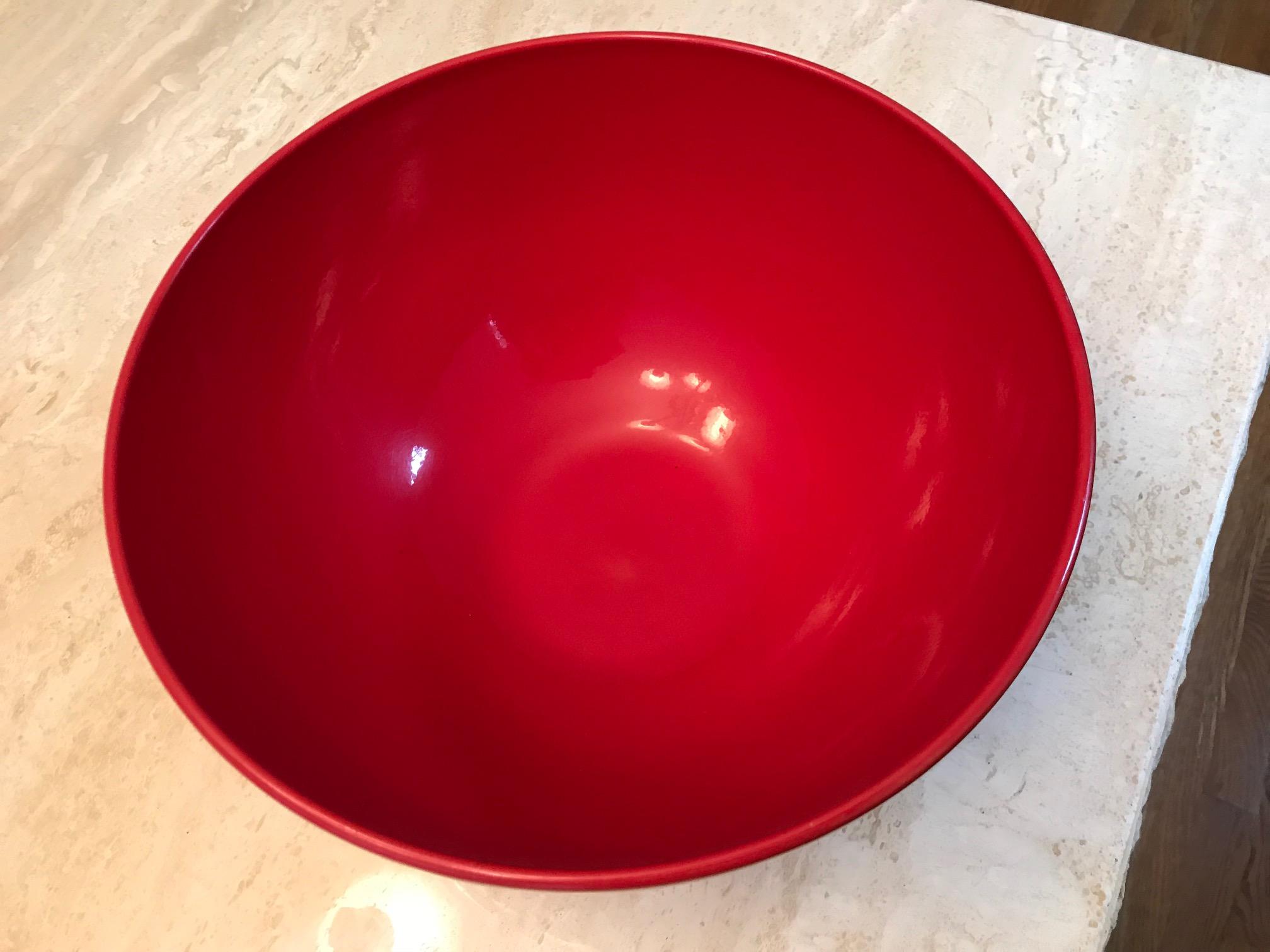 Red Waechtersbach German Bowl, c. 2009
