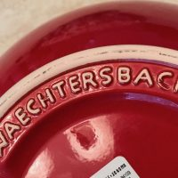 Red Waechtersbach Germany Bowl from Williams Sonoma Lead Safe Mama Tamara Rubin 5