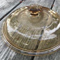 Small Amber Glass Visionware 2018 Pot Lid 2