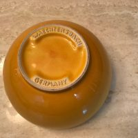 Yellow Waechtersbach Germany Bowl from Williams Sonoma Lead Safe Mama Tamara Rubin 3