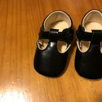 2018 Off Brand Black Faux Leather Baby Shoe Lead Safe Mama Tamara Rubin 1
