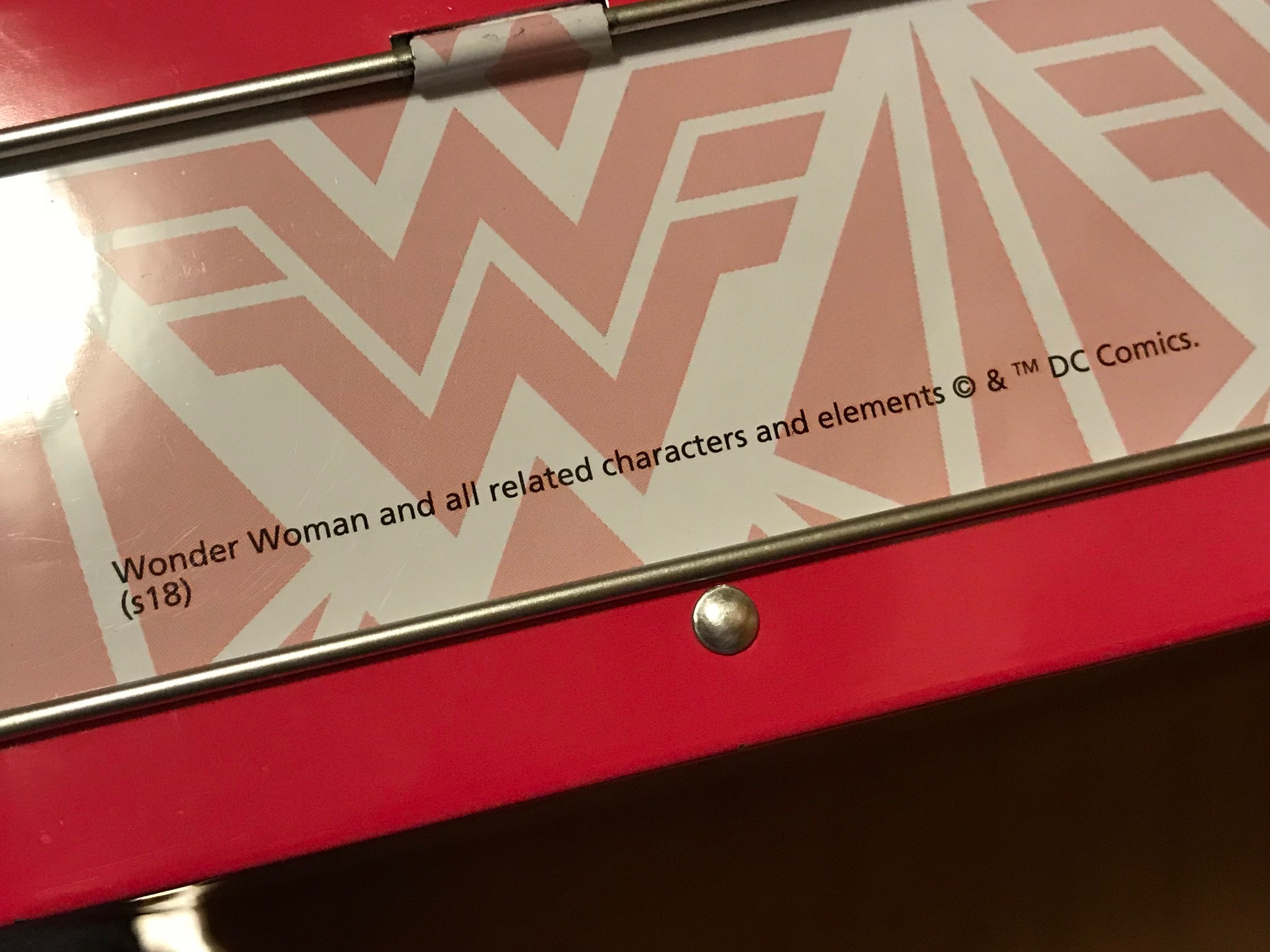 Wonder Woman Pencil Tin, Purchased New at Target in 2018